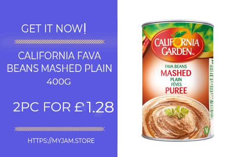 california garden fava beans mashed plain 400g x2