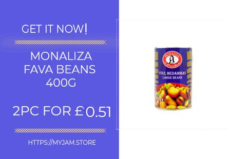 monaliza fava beans 400g x2