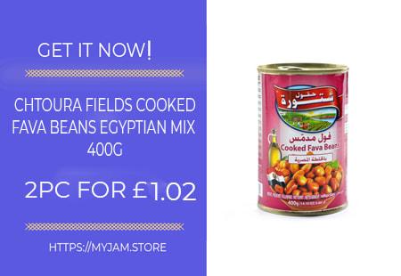 chtoura fields cooked fava beans egyptian mix 400g x2