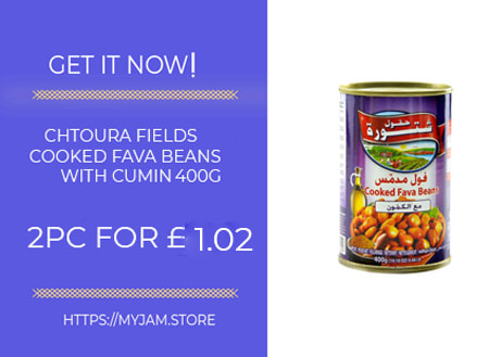 chtoura fields cooked fava beans with cumin 400g x2