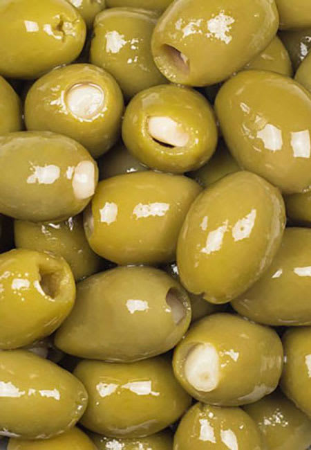 green olives with garlic 330g