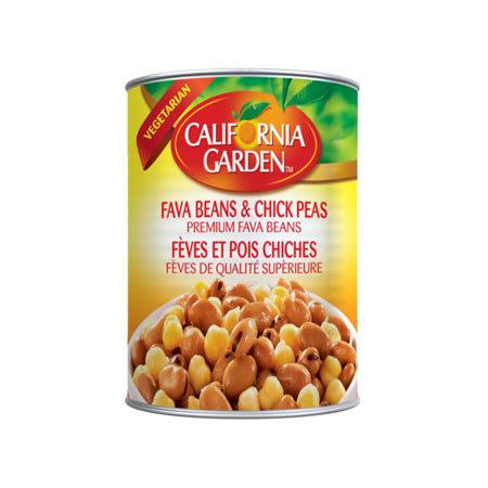 california garden fava beans & chickpeas 450g
