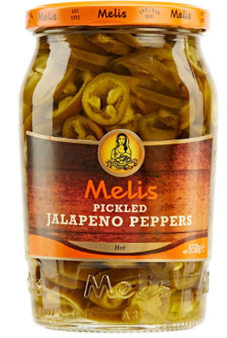 melis pickled jalapeno peppers 650g