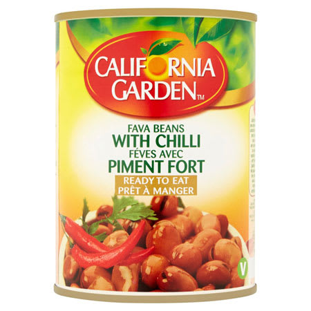 california garden fava beans with chili 450g