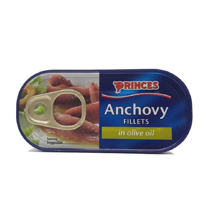 princes anchovy fillets in olive oil 50g