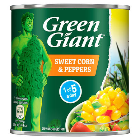 green giant sweet corn and peppers 100g