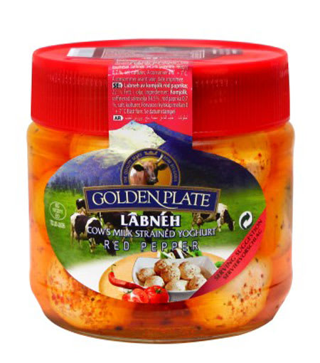 golden plate labneh with red peppers 225g