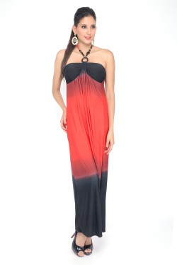 Halter Tie Neck Maxi Dress