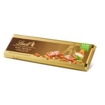 Lindt Gold Bar Milk Almond Pistachio 300g