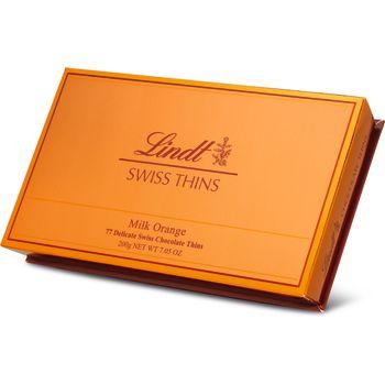 Lindt Swiss Thins Orange 200g