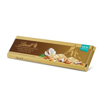 Lindt Gold Bar White Coconut Almond 300g