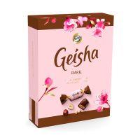 Geisha Tummia Suklaakonvehteja Hasselpähkinänougattäytteellä