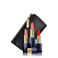 Pure Color Envy Hi-Lustre Sculpting Lipstick Trio Set with Black Bag