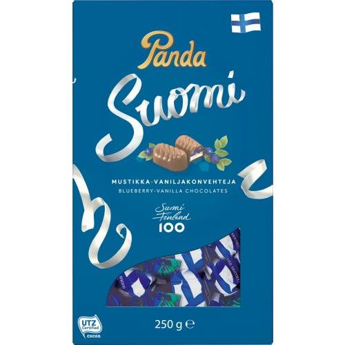Panda Suomi Blueberry-Vanilla Milk Chocolates