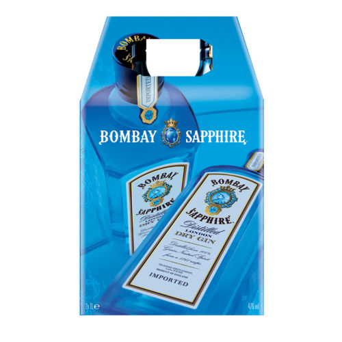 Bombay Sapphire London Dry Gin Twin Pack