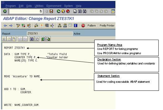 ABAP Program Structure