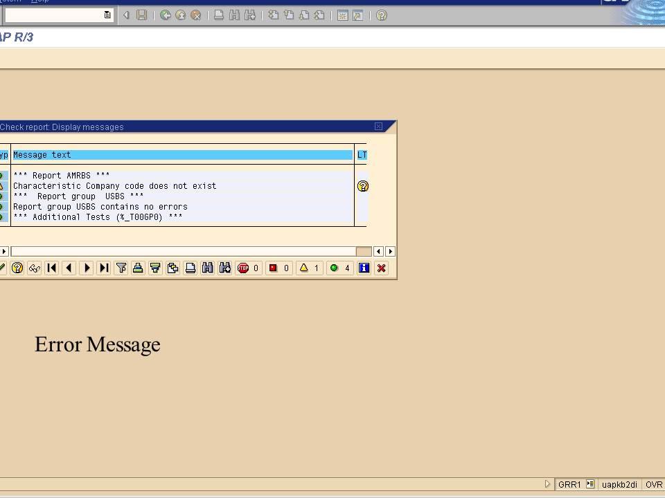 19. handling error message