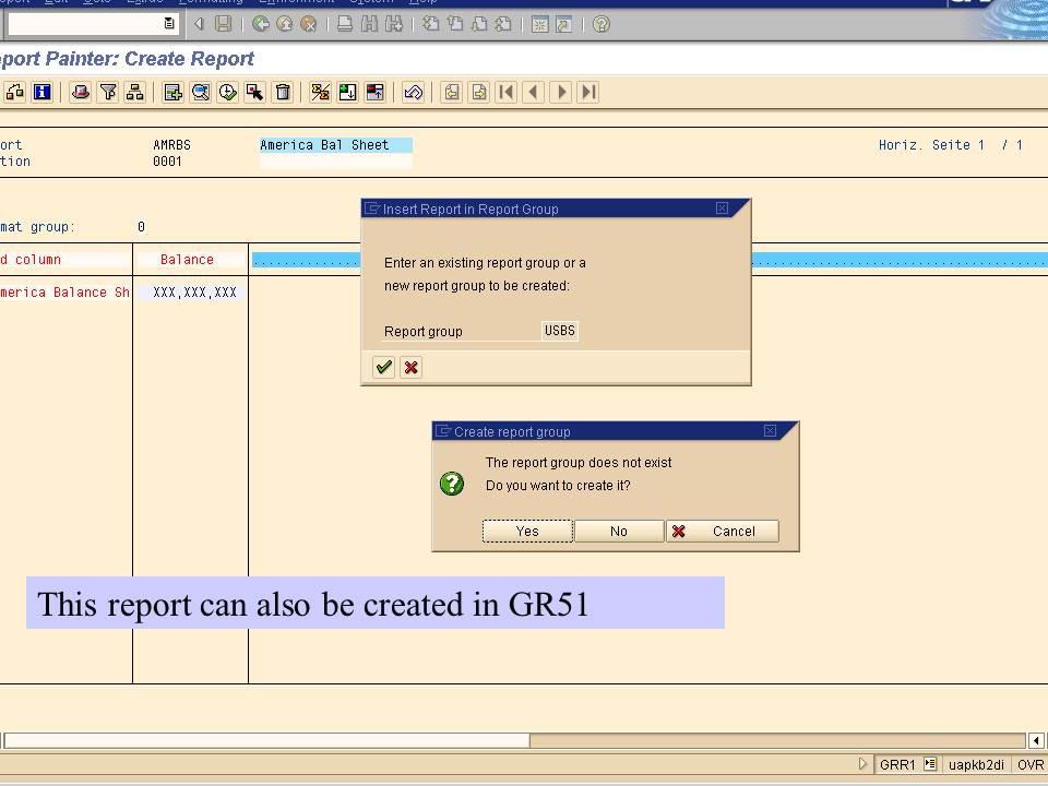 18. create report in GR51