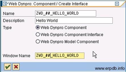 Creating Webdynpro App1