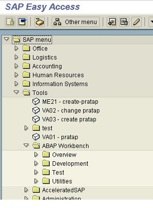 ABAP Workbench Layout