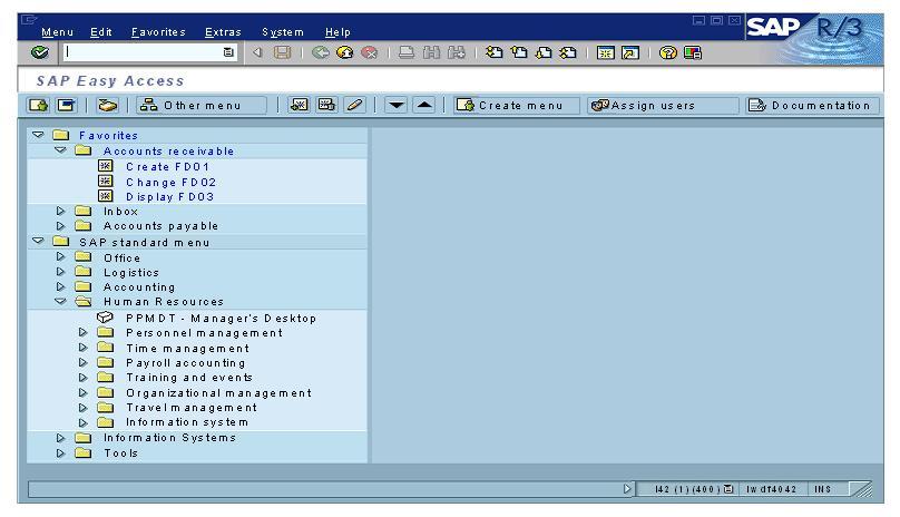 Navigation inside SAP