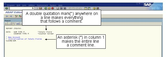Comments in ABAP