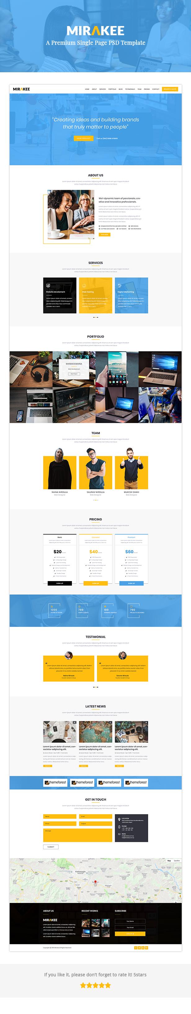 Royalix – Single Page PSD Template - 1