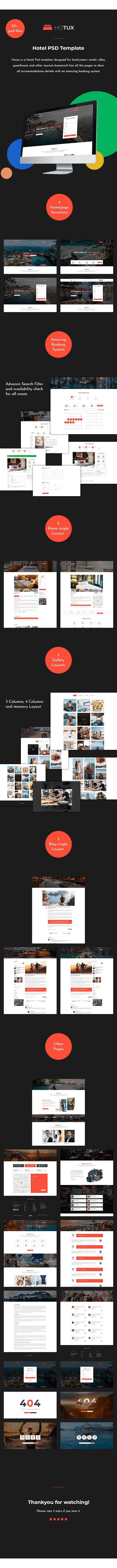 Holux – Hotel PSD Template