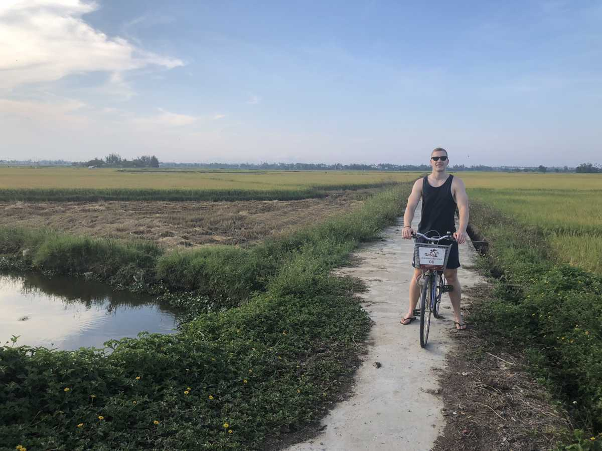 Cycling through the rice fields