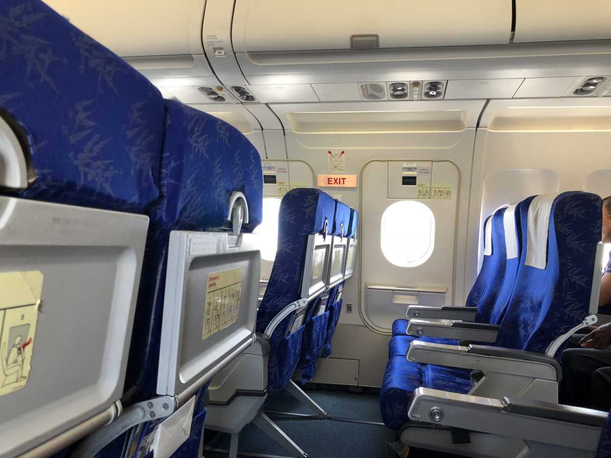 Empty exit seats