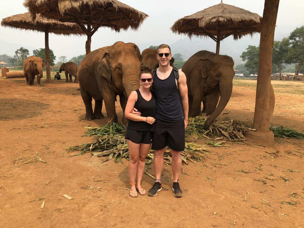 Us at Elephant Nature Park