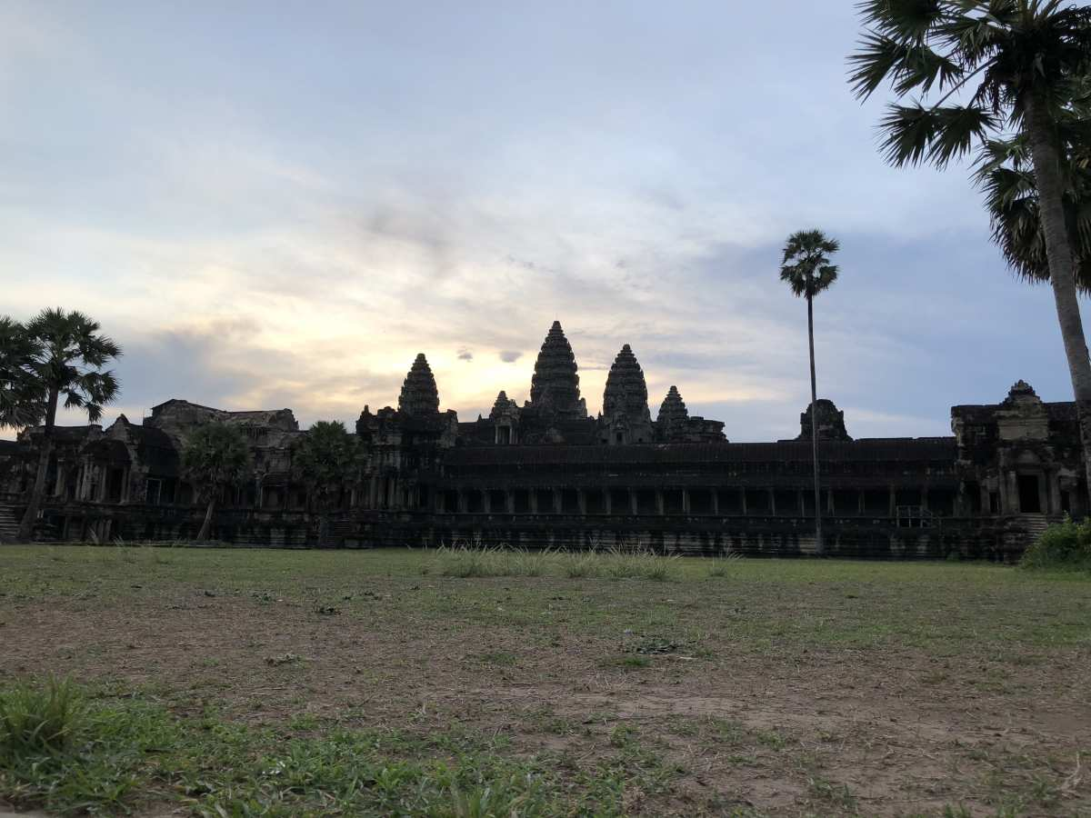 Our view of Angkor Wat at sunrise