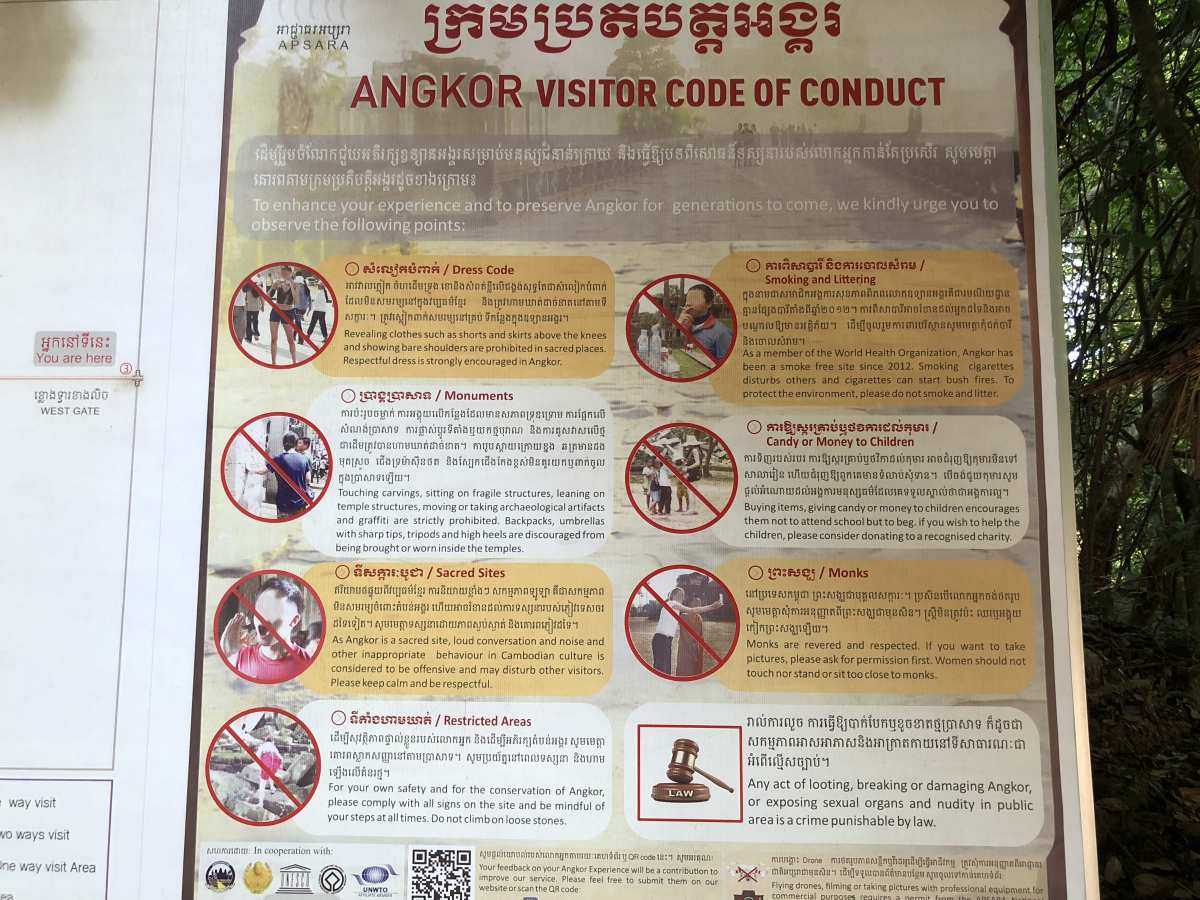 Angkor Wat code of conduct