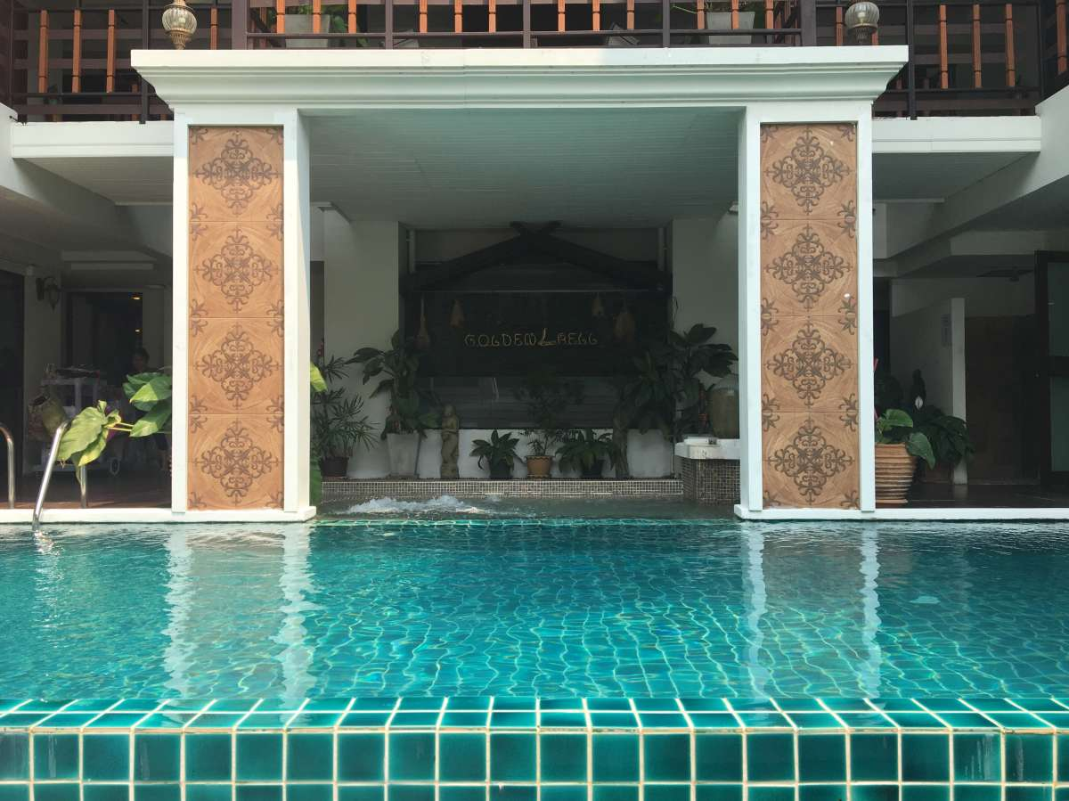 The pool at the Golden Bell
