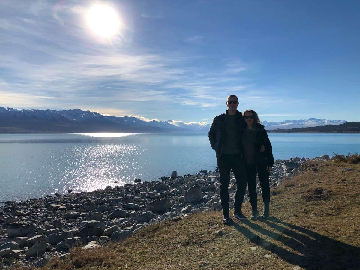 At Lake Pukaki
