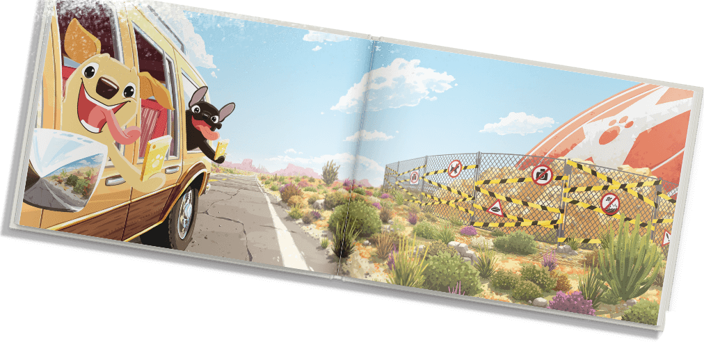 Personalized Story Book For Two Dogs Petlandia Roadtrip