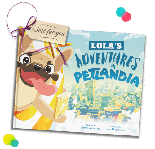 A copy of 'Adventures in Petlandia' is pictured, as a gift.