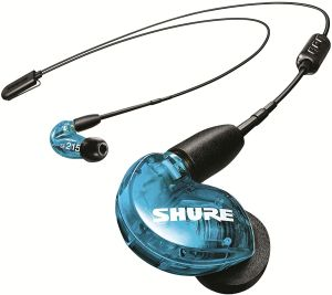Shure SE215 Wireless (Translucent Blue)