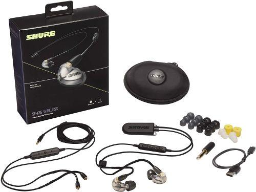 Shure SE425 (Silver w/ Wireless Adapter)
