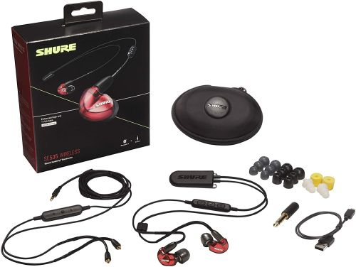 Shure SE535 (Translucent Red w/ Wireless Adapter)
