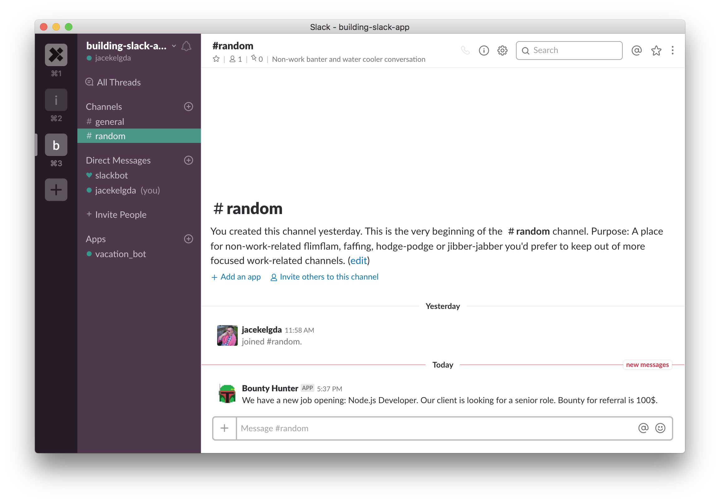 A Slack App Step-by-Step: A Real-Life Example