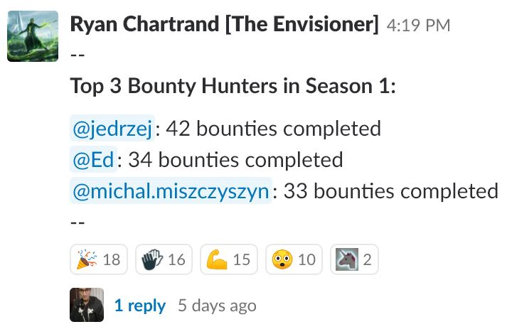 Bounties-Completed