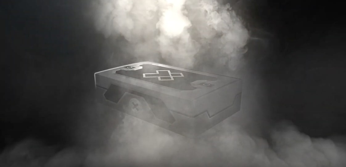 A crate with the X-Team logo on top of it