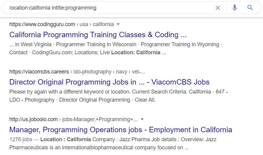 Programming in California