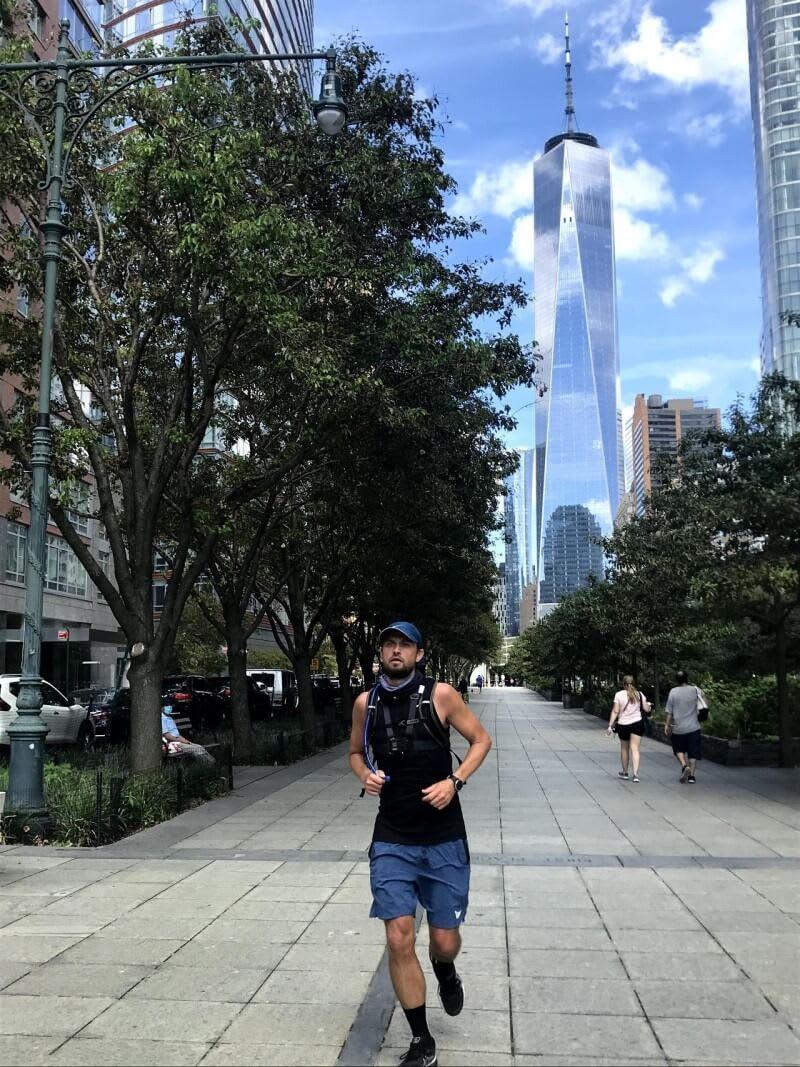Morten running in NYC