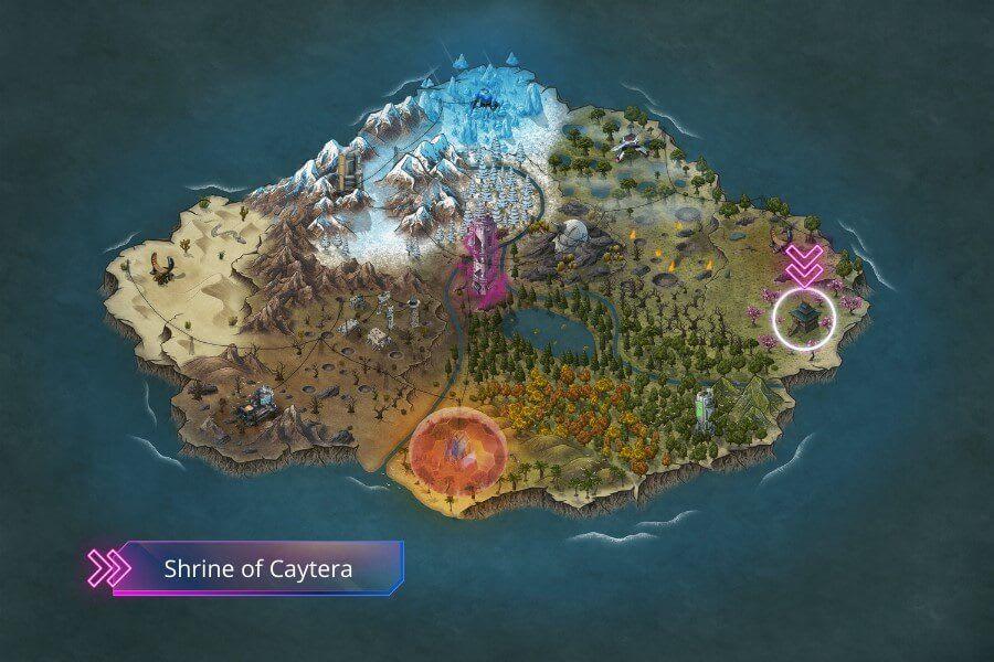 A map of an island