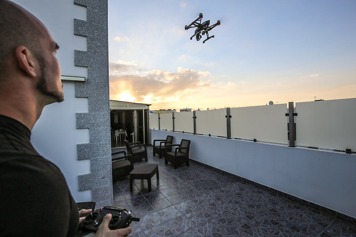 flying a drone