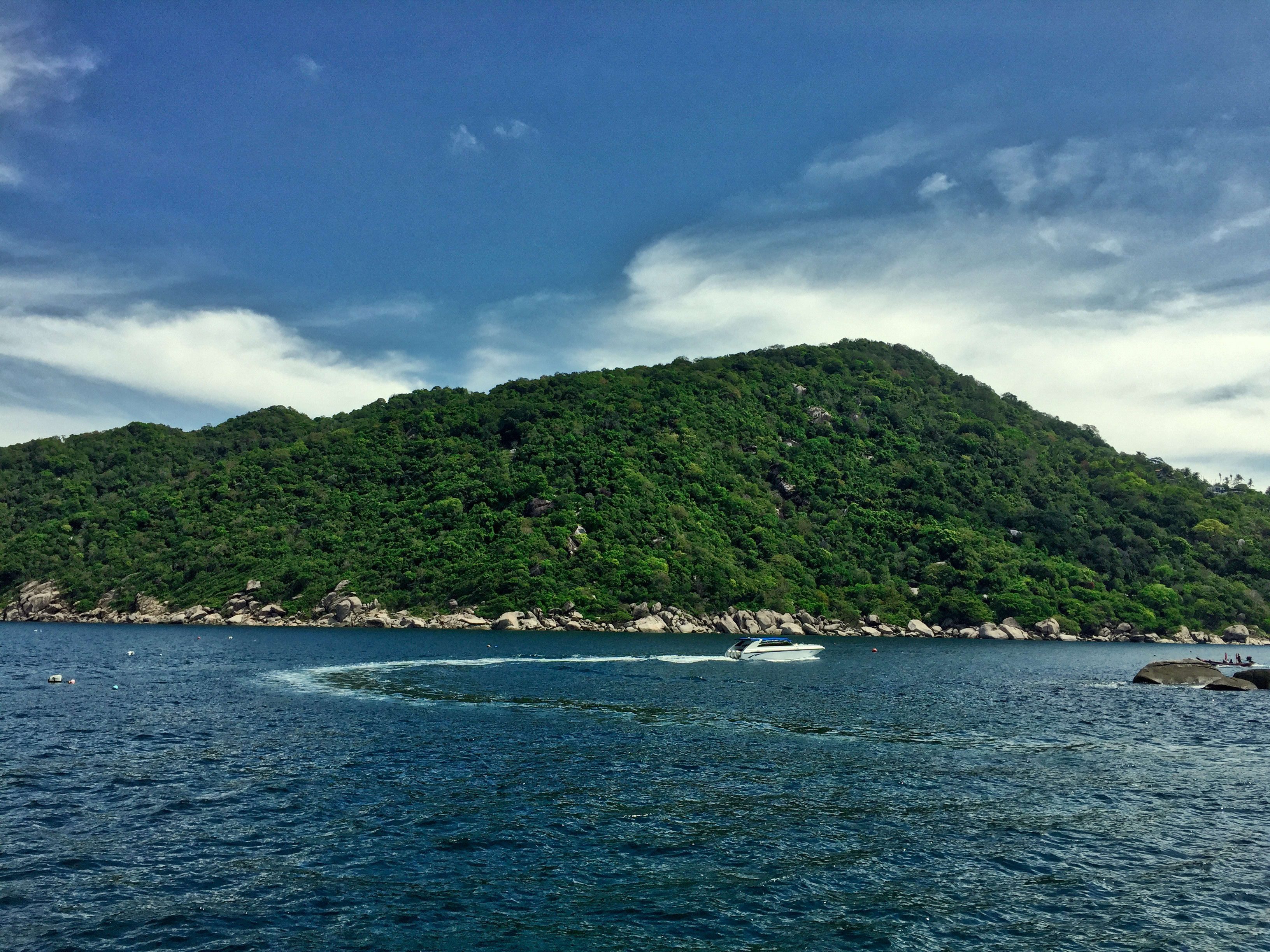 The view off the Ko Phangan coast