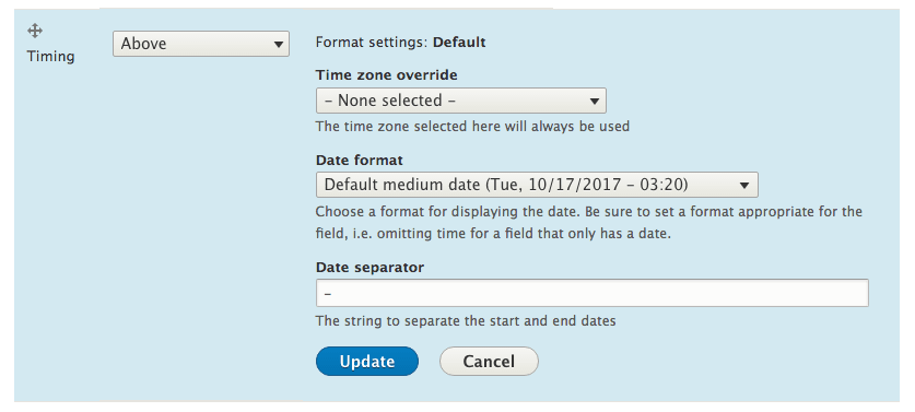The DateTime Range in Drupal 8