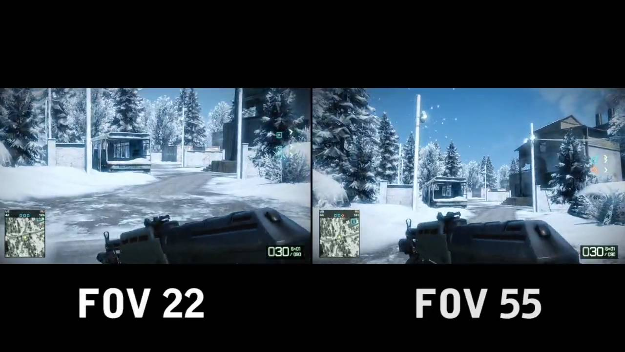 Battlefield FOV views
